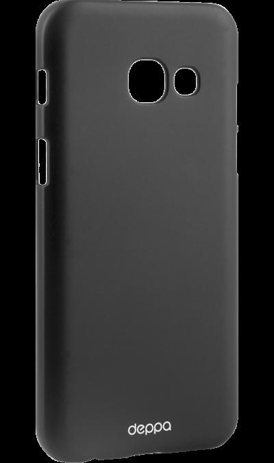 Deppa Чехол-крышка Deppa Air Case для Samsung Galaxy A3 (2017), пластик, черный чехлы для телефонов deppa чехол air case для samsung galaxy a7 2016 серый