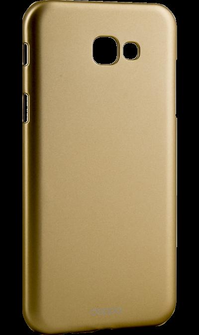 Чехол-крышка Deppa Air Case для Samsung Galaxy A7 (2017), пластик, золотистыйЧехлы и сумочки<br>Чехол Deppa поможет не только защитить ваш Samsung Galaxy A5 (2016) от повреждений, но и сделает обращение с ним более удобным, а сам аппарат будет выглядеть еще более элегантным.<br><br>Colour: Золотистый