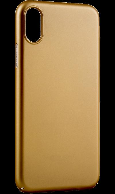 Чехол-крышка Deppa Air Case для iPhone X, пластик, золотистыйЧехлы и сумочки<br>Чехол Deppa поможет не только защитить ваш iPhone X от повреждений, но и сделает обращение с ним более удобным, а сам аппарат будет выглядеть еще более элегантным.<br><br>Colour: Золотистый
