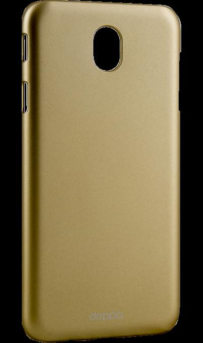Чехол-крышка Deppa для Samsung Galaxy J7 (2017), пластик, золотистыйЧехлы и сумочки<br>Чехол Samsung поможет не только защитить ваш Samsung Galaxy J7 (2017) от повреждений, но и сделает обращение с ним более удобным, а сам аппарат будет выглядеть еще более элегантным.<br><br>Colour: Золотистый