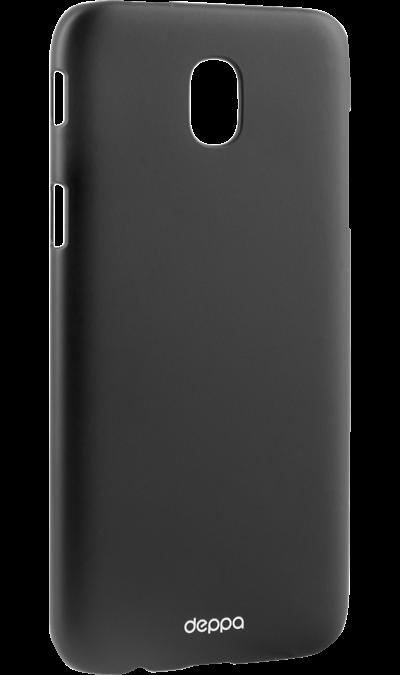 Чехол-крышка Deppa для Samsung Galaxy J7 (2017), пластик, черныйЧехлы и сумочки<br>Чехол Samsung поможет не только защитить ваш Samsung Galaxy J7 (2016) от повреждений, но и сделает обращение с ним более удобным, а сам аппарат будет выглядеть еще более элегантным.<br><br>Colour: Черный