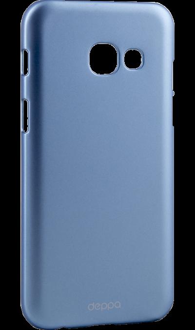 Чехол-крышка Deppa Air Case для Samsung Galaxy A3 (2017), пластик, голубойЧехлы и сумочки<br>Чехол Deppa поможет не только защитить ваш Samsung Galaxy A3 (2017) от повреждений, но и сделает обращение с ним более удобным, а сам аппарат будет выглядеть еще более элегантным.<br><br>Colour: Голубой