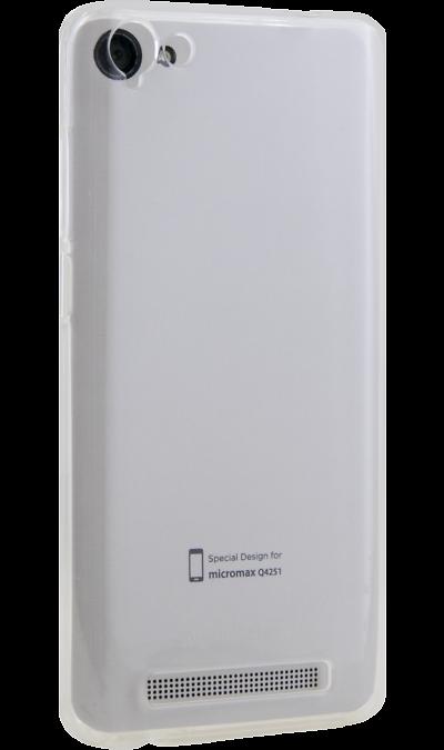 Micromax Чехол-крышка Micromax для Q4251, силикон, прозрачный micromax смартфон micromax q415 black опция интернет s