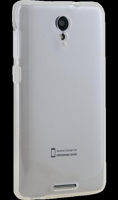 Micromax Чехол-крышка Micromax для Q4202, силикон, прозрачный смартфон micromax bolt q379 yellow
