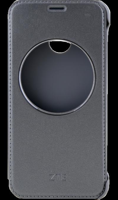 ZTE Чехол-крышка ZTE для Blade A6, кожзам, серый смартфон zte blade a6 черный blade a6