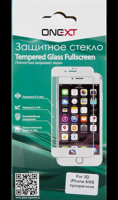 One-XT Защитное стекло One-XT 3D для Apple iPhone 6/6s (прозрачное) one xt защитное стекло one xt 3d для apple iphone 7 plus 8 plus прозрачное