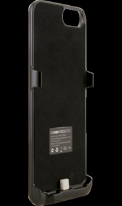 Чехол-аккумулятор Inter-Step 5000mAh для Apple iPhone 6Plus/7Plus, пластик, черныйЧехлы и сумочки<br>Чехол Inter-Step разработан специально для увеличения заряда аккумулятора и защиты iPhone 6 Plus. Мягкая подкладка из микроволокна защищает корпус iPhone, а его внешняя силиконовая поверхность очень приятна на ощупь. Чехол сделан из мягкого эластомерного материала, поэтому его легко надевать и снимать.<br>Одновременно заряжая iPhone и чехол с аккумулятором, вы получите возможность говорить по телефону до 26 часов, работать в интернете через LTE до 22 часов и ещё дольше слушать музыку и смотреть ...<br><br>Colour: Черный