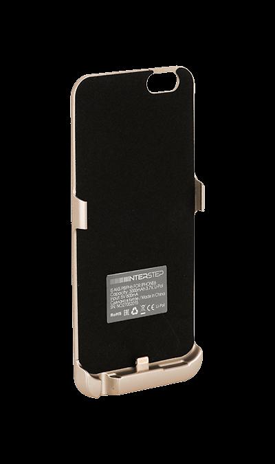 Чехол-аккумулятор Inter-Step 3000mAh для Apple iPhone 6/6S, пластик, золотистыйЧехлы и сумочки<br>Чехол Inter-Step разработан специально для увеличения заряда аккумулятора и защиты iPhone 6. Мягкая подкладка из микроволокна защищает корпус iPhone, а его внешняя силиконовая поверхность очень приятна на ощупь. Чехол сделан из мягкого эластомерного материала, поэтому его легко надевать и снимать.<br>Одновременно заряжая iPhone и чехол с аккумулятором, вы получите возможность говорить по телефону до 26 часов, работать в интернете через LTE до 22 часов и ещё дольше слушать музыку и смотреть ...<br><br>Colour: Золотистый