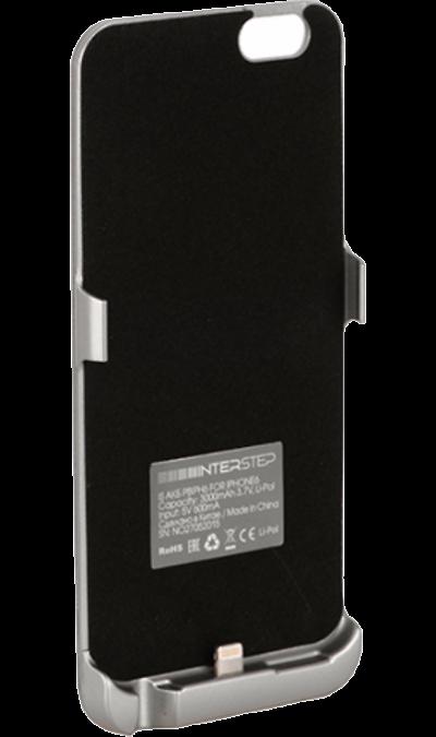Inter-Step Чехол-аккумулятор Inter-Step 3000mAh для Apple iPhone 6/6S, пластик, серебристый чехол аккумулятор interstep metal power для apple iphone 6 6s золотой
