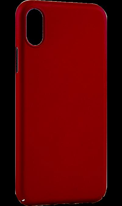 Deppa Чехол-крышка Deppa Air Case для iPhone X, пластик, красный чехол для iphone interstep для iphone x soft t metal adv красный