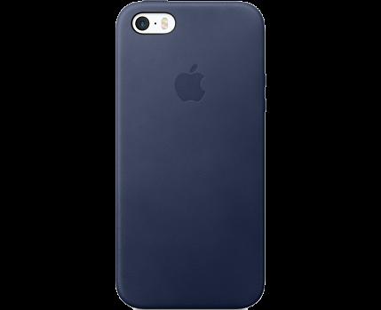 купить чехол крышка Apple для Iphone 5sse кожа Cиний по выгодной