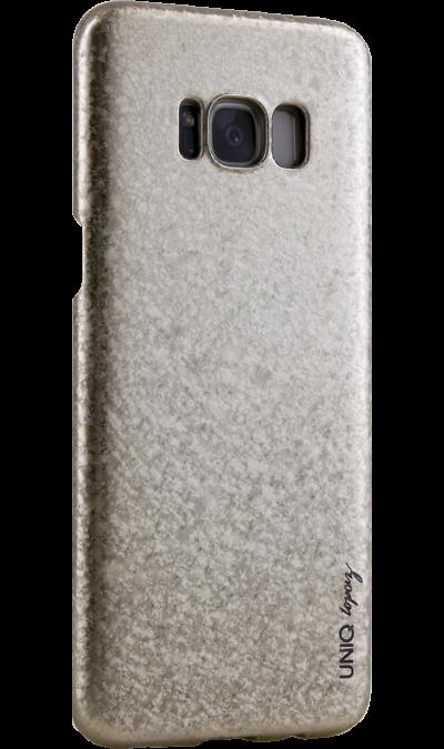 Чехол-крышка Uniq Topaz для Samsung Galaxy S8, пластик, золотистыйЧехлы и сумочки<br>Чехол обеспечит надежную защиту задней крышке и торцам устройства. Не сильно увеличивает размеры смартфона. Оснащен необходимыми отверстиями под порты и камеру.<br><br>Colour: Золотистый