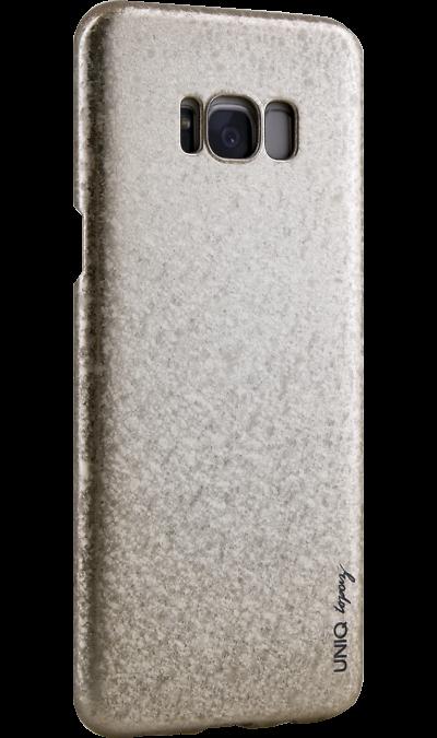 Чехол-крышка Uniq Topaz для Samsung Galaxy S8 Plus, пластик, золотистыйЧехлы и сумочки<br>Чехол обеспечит надежную защиту задней крышке и торцам устройства. Не сильно увеличивает размеры смартфона. Оснащен необходимыми отверстиями под порты и камеру.<br><br>Colour: Золотистый