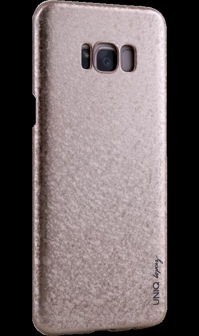 Чехол-крышка Uniq Topaz для Samsung Galaxy S8 Plus, пластик, розовыйЧехлы и сумочки<br>Чехол обеспечит надежную защиту задней крышке и торцам устройства. Не сильно увеличивает размеры смартфона. Оснащен необходимыми отверстиями под порты и камеру.<br><br>Colour: Розовый