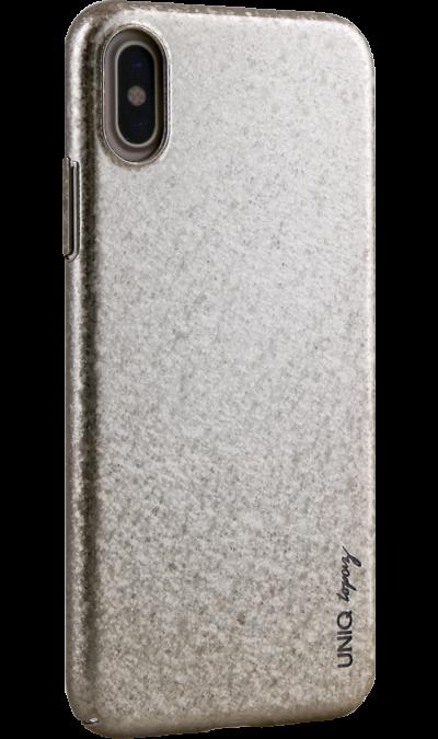 Чехол-крышка Uniq Topaz для iPhone X, пластик, золотистыйЧехлы и сумочки<br>Чехол Uniq поможет не только защитить ваш iPhone X от повреждений, но и сделает обращение с ним более удобным, а сам аппарат будет выглядеть еще более элегантным.<br><br>Colour: Золотистый