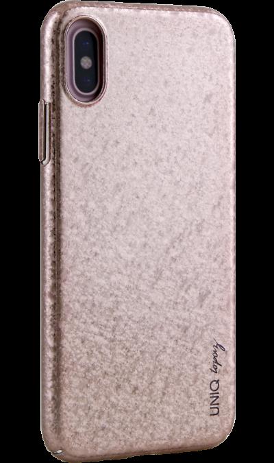 Uniq Чехол-крышка Uniq Topaz для iPhone X, пластик, розовый uniq чехол крышка uniq feltro для apple iphone x пластик микрофибра синий