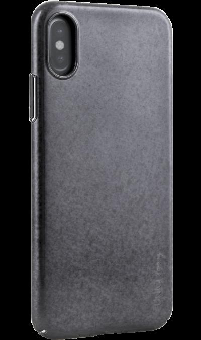 Uniq Чехол-крышка Uniq Topaz для iPhone X, пластик, черный uniq чехол крышка uniq feltro для apple iphone x пластик микрофибра синий