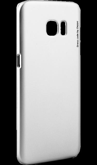 Чехол-крышка Deppa Air Case для Samsung Galaxy S7 Edge, пластик, серебристыйЧехлы и сумочки<br>Чехол Deppa поможет не только защитить ваш Samsung Galaxy S7 Edge от повреждений, но и сделает обращение с ним более удобным, а сам аппарат будет выглядеть еще более элегантным.<br><br>Colour: Серебристый