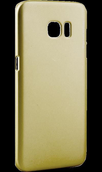 Чехол-крышка Deppa Air Case для Samsung Galaxy S7 Edge, пластик, золотистыйЧехлы и сумочки<br>Чехол Deppa поможет не только защитить ваш Samsung Galaxy S7  Edge от повреждений, но и сделает обращение с ним более удобным, а сам аппарат будет выглядеть еще более элегантным.<br><br>Colour: Золотистый