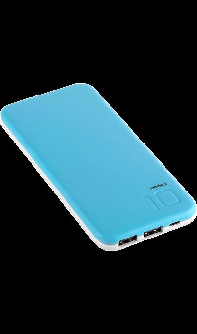 Аккумулятор Rombica NEO EX100, Li-Pol, 10000 мАч, голубой (портативный)