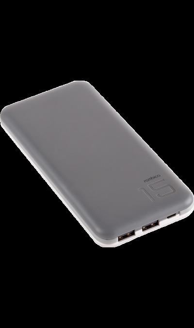 Аккумулятор Rombica NEO EX150, Li-Pol, 15000 мАч, серый (портативный)Аккумуляторы внешние<br>Резервный аккумулятор Rombica - устройство, предназначенное для зарядки портативных устройств без помощи электрической сети. Особенно актуален для путешественников и туристов в местах, где невозможен или ограничен доступ к электроэнергии. Резервный аккумулятор подходит для портативных устройств, таких как смартфоны, планшеты, мобильные телефоны и МР3-плееры.<br><br>LED индикатор оставшегося заряда;<br>Множественная система защиты для безопасной зарядки устройств;<br>Алюминиевый ...<br><br>Colour: Серый