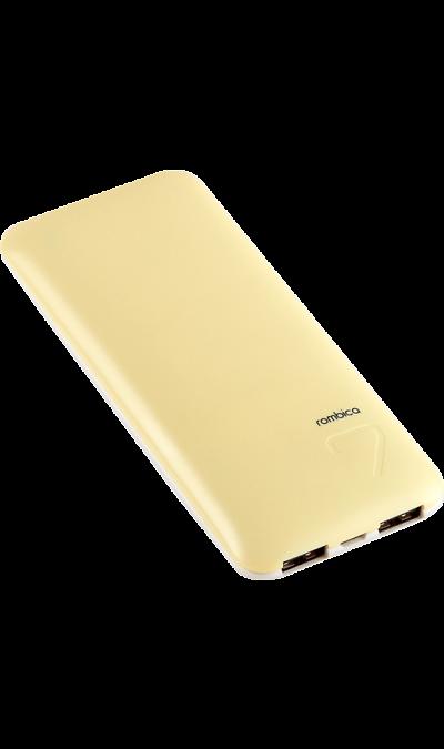 Аккумулятор Rombica NEO EX70, Li-Pol, 7000 мАч, желтый (портативный)Аккумуляторы внешние<br>Резервный аккумулятор Rombica - устройство, предназначенное для зарядки портативных устройств без помощи электрической сети. Особенно актуален для путешественников и туристов в местах, где невозможен или ограничен доступ к электроэнергии. Резервный аккумулятор подходит для портативных устройств, таких как смартфоны, планшеты, мобильные телефоны и МР3-плееры.<br><br>LED индикатор оставшегося заряда;<br>Множественная система защиты для безопасной зарядки устройств;<br>Алюминиевый ...<br><br>Colour: Желтый