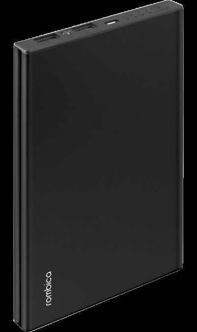 Аккумулятор Rombica NEO NS190BL, Li-Pol, 19000 мАч, черный (портативный)Аккумуляторы внешние<br>Резервный аккумулятор Rombica - устройство, предназначенное для зарядки портативных устройств без помощи электрической сети. Особенно актуален для путешественников и туристов в местах, где невозможен или ограничен доступ к электроэнергии. Резервный аккумулятор подходит для портативных устройств, таких как смартфоны, планшеты, мобильные телефоны и МР3-плееры.<br><br>LED индикатор оставшегося заряда;<br>Множественная система защиты для безопасной зарядки устройств;<br>Алюминиевый ...<br><br>Colour: Черный