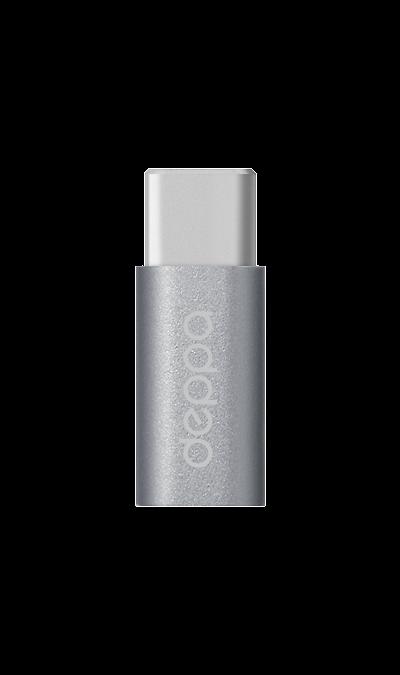 Deppa Адаптер Deppa microUSB/Type-C (графит) адаптер micro usb type c ugreen
