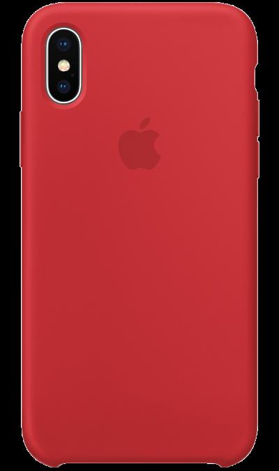 Чехол-крышка Apple для iPhone X, силикон, красныйЧехлы и сумочки<br>Силиконовый чехол от Apple - отличное дополнение к вашему iPhone X. Он плотно прилегает к кнопкам громкости и режима сна, точно повторяет контуры телефона и при этом не делает его громоздким. Мягкая подкладка из микрофибры защищает корпус вашего iPhone. А внешняя силиконовая поверхность очень приятна на ощупь. Чехол не придётся снимать даже во время беспроводной зарядки.<br><br>Colour: Красный
