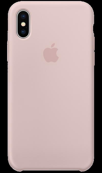 Чехол-крышка Apple для iPhone X, силикон, розовыйЧехлы и сумочки<br>Силиконовый чехол от Apple - отличное дополнение к вашему iPhone X. Он плотно прилегает к кнопкам громкости и режима сна, точно повторяет контуры телефона и при этом не делает его громоздким. Мягкая подкладка из микрофибры защищает корпус вашего iPhone. А внешняя силиконовая поверхность очень приятна на ощупь. Чехол не придётся снимать даже во время беспроводной зарядки.<br><br>Colour: Розовый