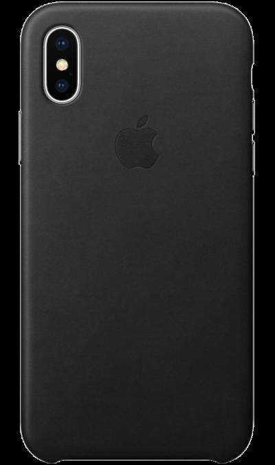 Чехол-крышка Apple для iPhone X, кожа, черныйЧехлы и сумочки<br>Чехлы от Apple точно повторяют контуры iPhone, не делая его громоздким. Они изготовлены из специально обработанной кожи европейского производства, которая со временем покрывается благородной патиной. Внутренняя поверхность чехла, выполненная из микрофибры, защищает корпус вашего iPhone. А цвет кнопок из обработанного алюминия идеально к нему подходит. Чехол не придётся снимать даже во время беспроводной зарядки.<br><br>Colour: Черный