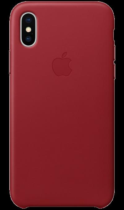 Чехол-крышка Apple для iPhone X, кожа, красныйЧехлы и сумочки<br>Чехлы от Apple точно повторяют контуры iPhone, не делая его громоздким. Они изготовлены из специально обработанной кожи европейского производства, которая со временем покрывается благородной патиной. Внутренняя поверхность чехла, выполненная из микрофибры, защищает корпус вашего iPhone. А цвет кнопок из обработанного алюминия идеально к нему подходит. Чехол не придётся снимать даже во время беспроводной зарядки.<br><br>Colour: Красный