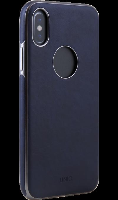 Чехол-крышка Uniq Glacer Luxe Heritage для Apple iPhone X, кожзам, синийЧехлы и сумочки<br>Чехол Uniq поможет не только защитить ваш iPhone X от повреждений, но и сделает обращение с ним более удобным, а сам аппарат будет выглядеть еще более элегантным.<br><br>Colour: Синий