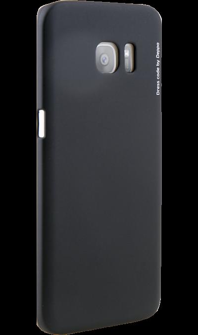 Deppa Чехол-крышка Deppa outfitter для Samsung Galaxy S7 Edge, пластик, черный deppa чехол крышка deppa для samsung galaxy j7 2017 пластик золотистый