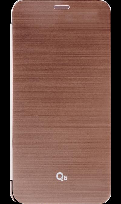 Чехол-книжка VOIA для  LG Q6, пластик, розовое золотоЧехлы и сумочки<br>Чехол VOIA поможет не только защитить ваш LG Q6 от повреждений, но и сделает обращение с ним более удобным, а сам аппарат будет выглядеть еще более элегантным.<br><br>Colour: Золотистый