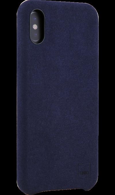 Чехол-крышка Uniq Feltro для Apple iPhone X, пластик/микрофибра, синийЧехлы и сумочки<br>Чехол Uniq поможет не только защитить ваш iPhone X от повреждений, но и сделает обращение с ним более удобным, а сам аппарат будет выглядеть еще более элегантным.<br><br>Colour: Синий