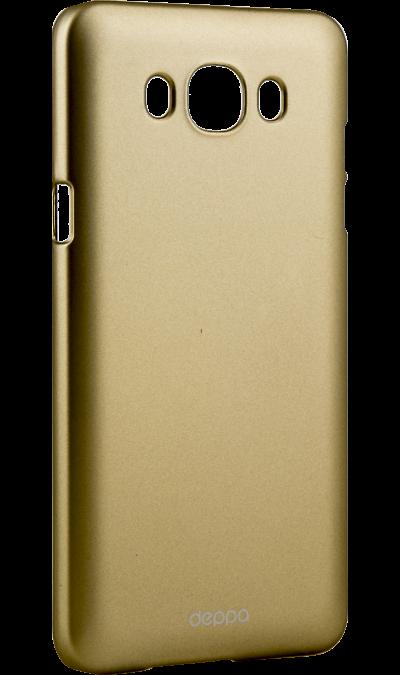 Чехол-крышка Deppa AIR Case для Samsung Galaxy J7 (2016), пластик, золотистыйЧехлы и сумочки<br>Чехол Samsung поможет не только защитить ваш Samsung Galaxy J7 (2016) от повреждений, но и сделает обращение с ним более удобным, а сам аппарат будет выглядеть еще более элегантным.<br><br>Colour: Золотистый