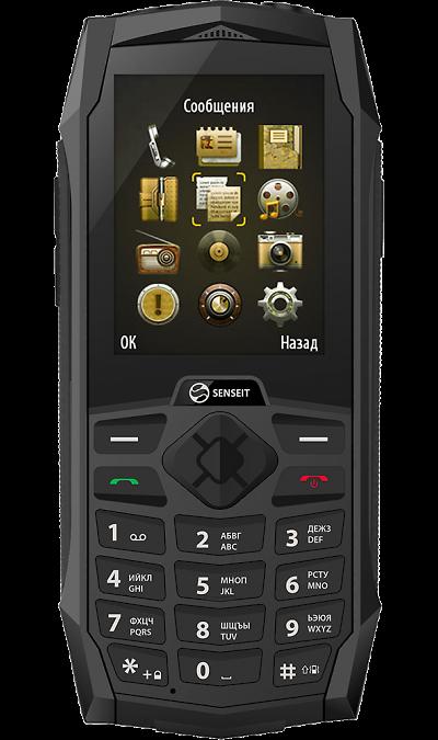 SENSEIT P110Телефоны<br>2G; Дисплей 65,5 тыс цв. 2.4; Камера 1.3 Mpix; Разъем для карт памяти; MP3, FM; Время работы 600 ч. / 8.0 ч.; Вес 160 г.<br><br>Colour: Черный