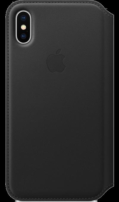 Чехол-книжка Apple MQRV2ZM для Apple iPhone X, кожа, черныйЧехлы и сумочки<br>Кожаный чехол, изготовленный из специально обработанной кожи европейского производства, приятен на ощупь, роскошно выглядит, точно повторяет контуры iPhone X и надёжно его защищает. Когда чехол закрыт, iPhone X находится в режиме сна. А если его открыть, телефон сразу вернётся в активное состояние. Мягкая подкладка из микрофибры обеспечивает дополнительную защиту вашего iPhone, а в специальном отделении удобно хранить чеки, купюры и банковские карты. Чехол не придётся снимать даже во время ...<br><br>Colour: Черный