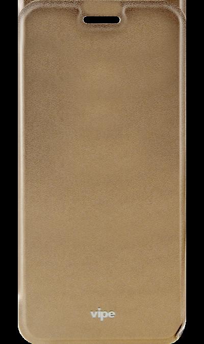 Vipe Чехол-книжка Vipe для Samsung Galaxy A3 (2017), кожзам, золотистый чехол для сотового телефона takeit для samsung galaxy a3 2017 metal slim металлик
