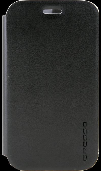 Gresso Чехол-книжка Gresso Absolut Air для Galaxy J1, кожзам, черный gresso чехол книжка gresso absolut air для zte axon 7 mini кожзам золотистый