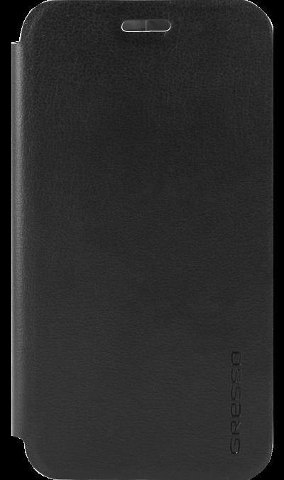 Gresso Чехол-книжка Gresso Absolut Air для Galaxy J3 (2017), кожзам, черный gresso чехол книжка gresso absolut air для zte axon 7 mini кожзам золотистый