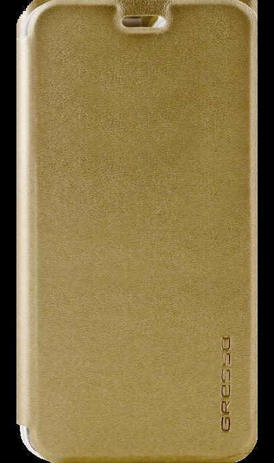 Gresso Чехол-книжка Gresso Absolut Air для Asus ZC520KL, кожзам, золотистый gresso чехол книжка gresso absolut air для zte axon 7 mini кожзам золотистый