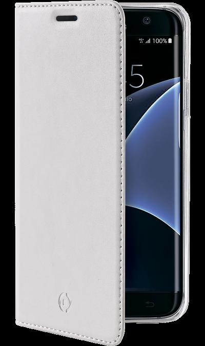 CELLY Чехол-книжка CELLY для Samsung Galaxy S7 Edge, полиуретан, белый samsung чехол книжка samsung для samsung galaxy a5 2017 полиуретан золотистый