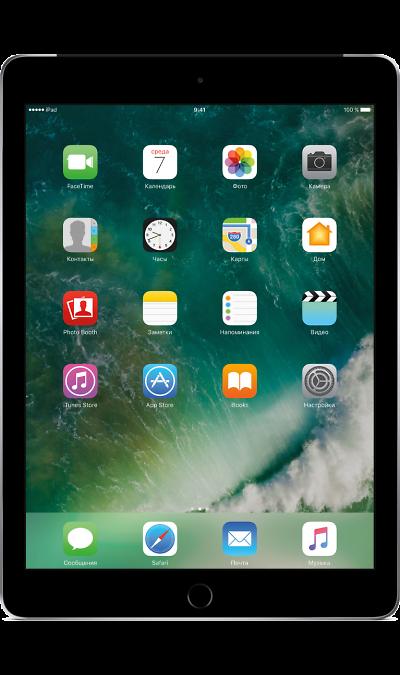 Apple iPad 32Gb Space GreyПланшеты<br>2G, 3G, 4G, Wi-Fi; ОС iOS; Дисплей сенсорный емкостный 16,7 млн цв. 9.7; Камера 8 Mpix, AF; MP3,  GPS / ГЛОНАСС; Вес 469 г.<br><br>Colour: Черный