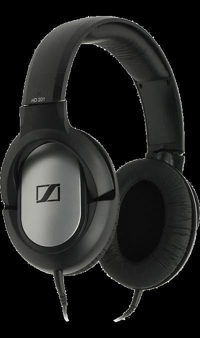 Sennheiser HD 201Наушники и гарнитуры<br>Sennheiser HD 201 - легкие и очень прочные динамические стереонаушники закрытого типа, обеспечивающие мощные НЧ и хорошую изоляцию от внешних шумов. Отличный и мощный стерео звук для любителей музыки знающих цену деньгам!<br><br><br>Мощная звукопередача.<br>Сочные, отчётливые низкие частоты.<br>Малый вес и высокая комфортность.<br>Надежная защита от внешних шумов.<br>Исключительная прочность.<br>Высококачественные амбушюры из искусственной кожи.<br>Позолоченный разъем джек 3,5 мм, ...<br>