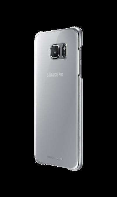 Чехол-крышка Samsung Clear Cover для Galaxy S7 Edge, поликарбонат, прозрачный (золотистая рамка)Чехлы и сумочки<br>Элегантный дизайн.<br>Созданный с блестящим металлическим обрамлением для придания премиальности, этот прозрачный чехол подчёркивает оригинальную красоту вашего телефона, одновременно защищая его от внешних повреждений.<br><br>Дополнительная защита.<br>Конструкция чехла обеспечивает дополнительную прочность для максимальной надёжности, которую вы по достоинству сможете оценить, когда в этом возникнет необходимость.<br><br>Идеальная эргономика.<br>Этот чехол просто ...<br>