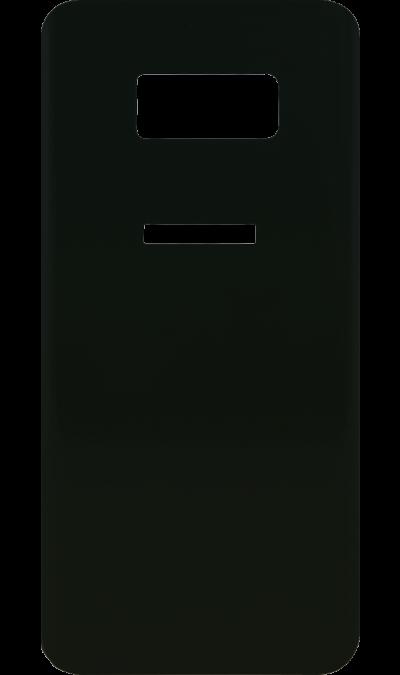 Защитное стекло на заднюю панель Inter-Step для Samsung Galaxy S8 (чёрное)Защитные стекла и пленки<br>Качественное защитное стекло прекрасно защищает смартфон от царапин и других следов механического воздействия. Оно не содержит клеевого слоя и крепится на дисплей благодаря эффекту электростатического притяжения.<br>