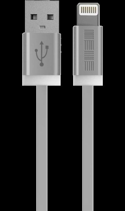 Кабель Inter-Step Lightning MFI (белый)Кабели и адаптеры<br>Кабель зарядки и передачи данных для мобильных устройств с разъемом Lightning.<br>