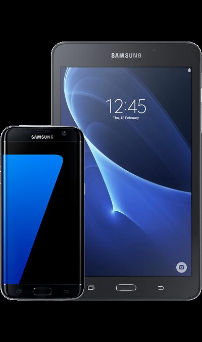 все цены на Samsung Смартфон Samsung Galaxy S7 edge Black + Планшет Galaxy Tab A 7.0 онлайн